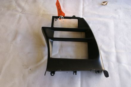 1994-1996; C4; Radio Surround Trim Bezel; PAINTED BLACK; USED Corvette broken clip